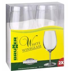 Set bicchieri 30 cl Brunner WHITE WINEGLASS
