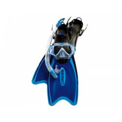Set pinne + maschera + aeratore Cressi PALAU BAG