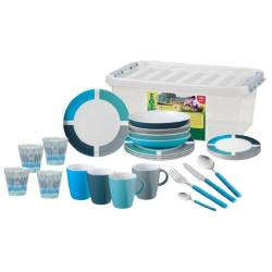 Set melamina Brunner ALL INCLUSIVE SPECTRUM BLUE
