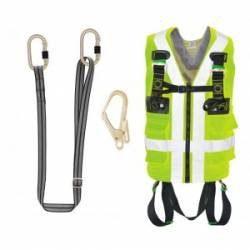 Kit gilet + cordino + connettore Kratos safety FA8001B01