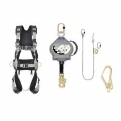 Kit imbragatura + blocco + cordino Kratos safety FA8012B01