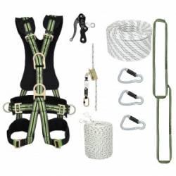 Kit imbracatura Kratos safety n°1 per corda doppia discesa