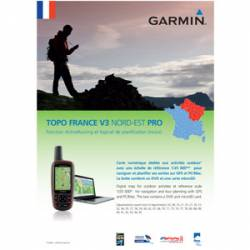 MapSource TOPO France v3 PRO - Nord-Est + microSD Garmin