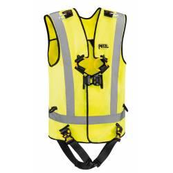Imbracatura anticaduta con giubbetto alta visibilità Petzl NEWTON EASYFIT HI-VIZ