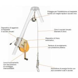Verricello CAMP RESCUE LIFTING DEVICE 20/25 m