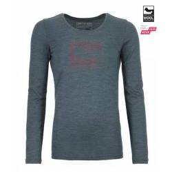185 MERINO CONTRAST LONG SLEEVE W Sottomaglia m/l Donna