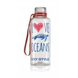 DRINK BOTTLE LOVE OCEANS - Bottiglia trasparente