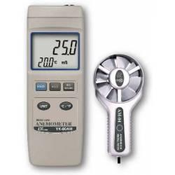 Anemometro e temperatura con sonda Lutron YK 80AM