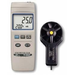Anemometro e temperatura con sonda Lutron YK-80AP