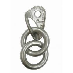 Placchetta con 2 anelli tondi Raumer ROCK Ø10